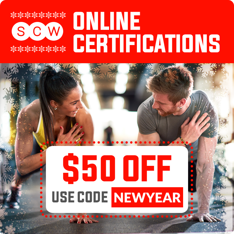 New Year\'s Certification Sale | SCW Fitness Education Online Shop