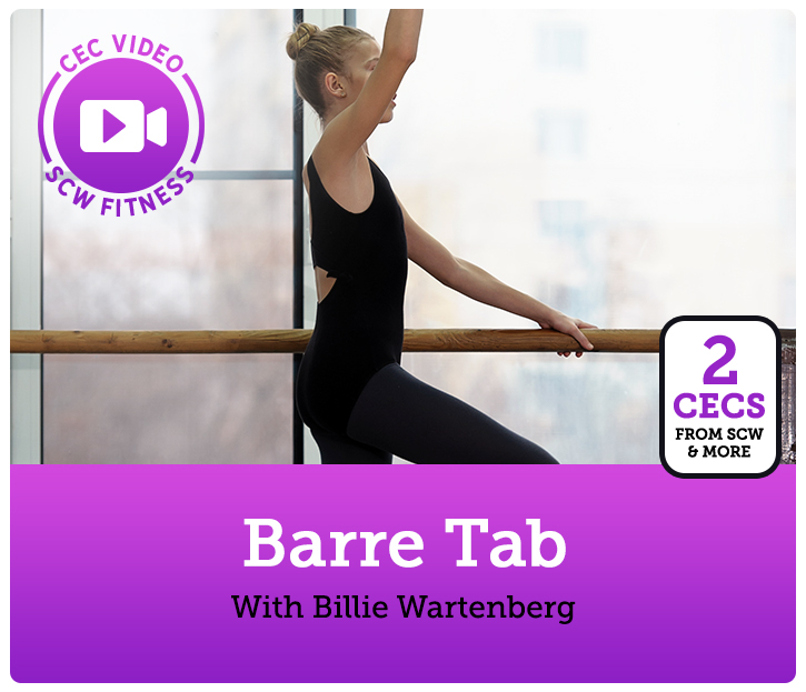 Cec Video Course Barre Tab Scw Fitness Education Online Shop