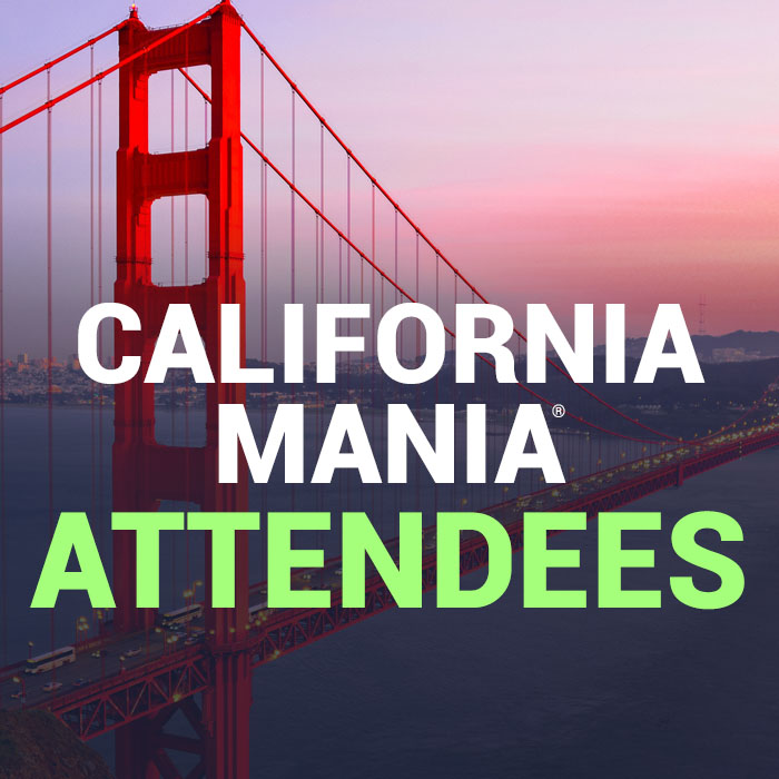 California MANIA® attendees
